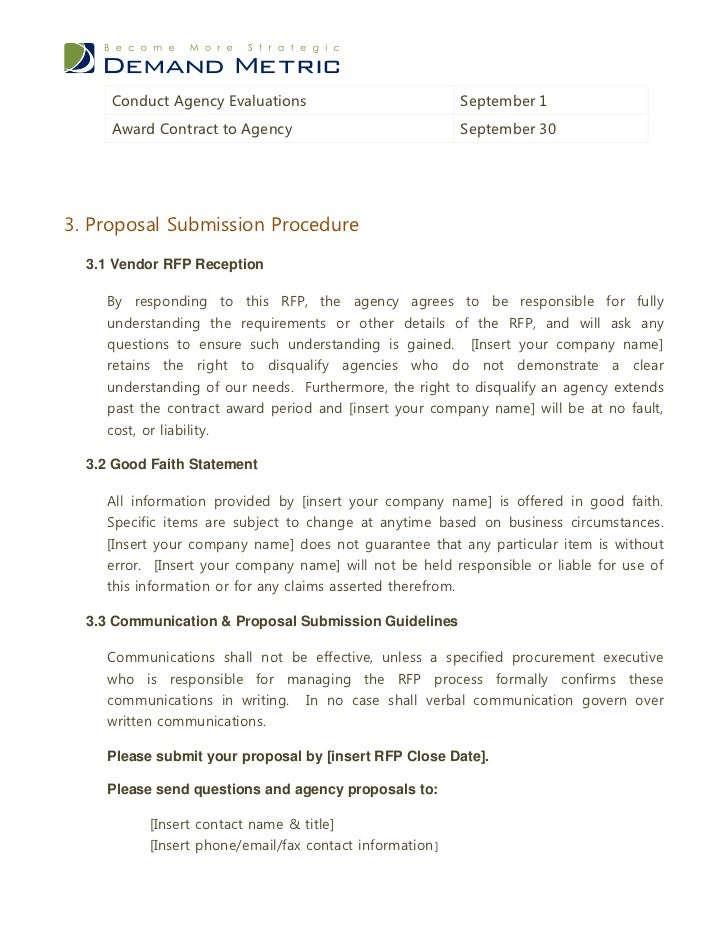 Agency RFP Template