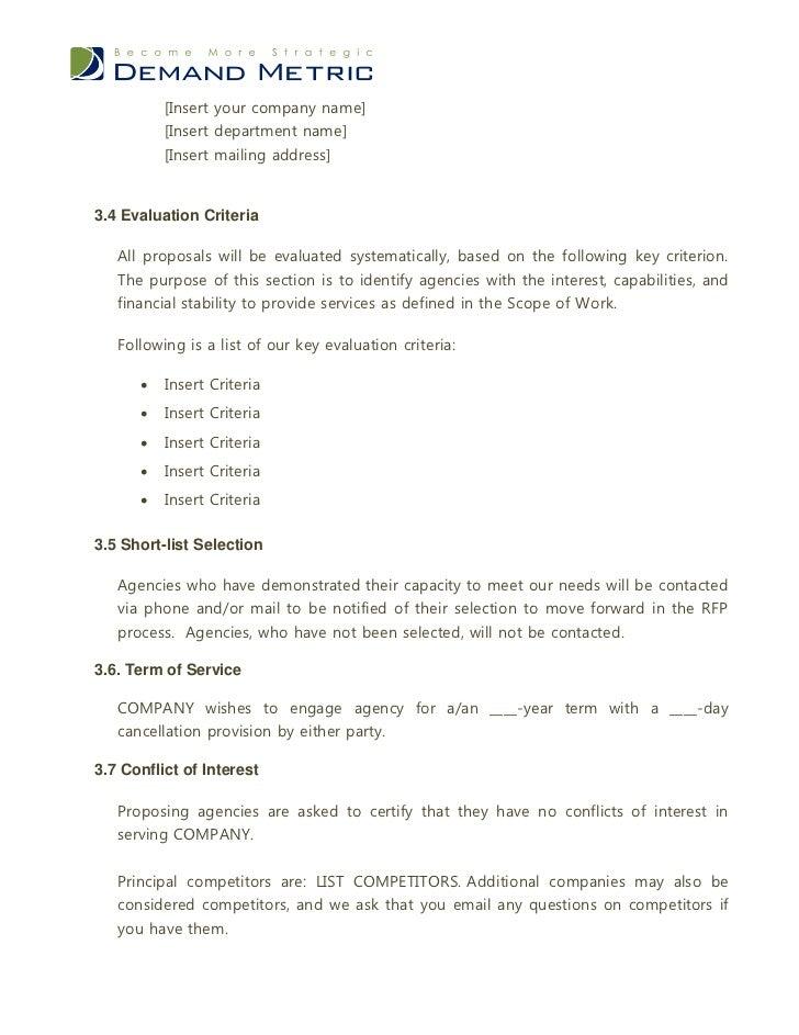 advertising agency rfp template