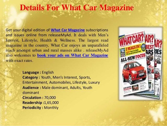 Advertising analysis on What Car Magazine