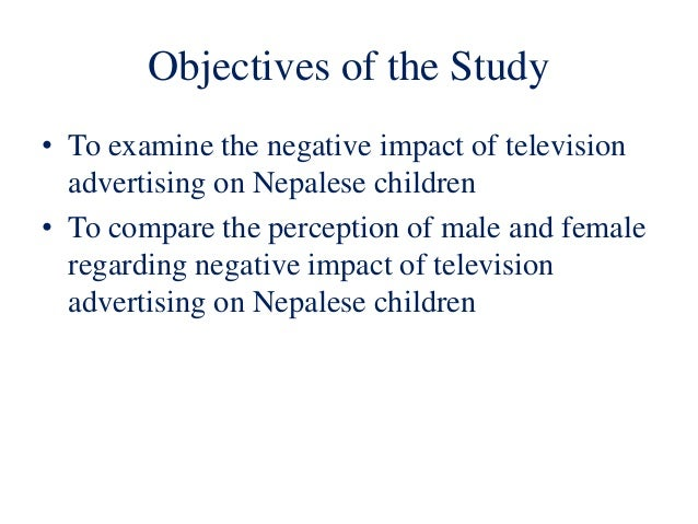 understanding the influence of television on children Television viewing has a great impact on various aspects of child's life this study  was carried out at sir padampat mother & child health institute, jaipur.