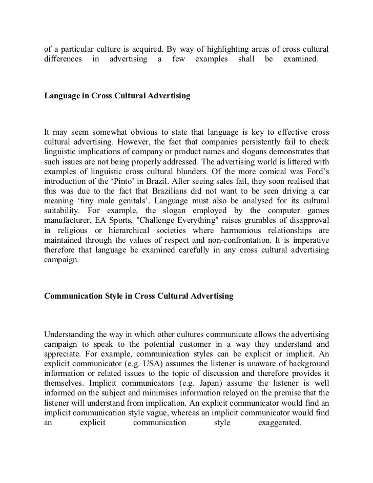 Gender Equality Essay Advertising And Culture  College Scholarship Essay Format also Essay On A Raisin In The Sun Essay On Advertising Advertising And Culture An Introduction To  Epistemology Essay