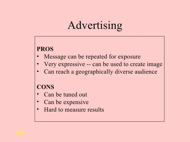 advertising pros and cons What are the major advantages and disadvantages of working as a creative at an advertising agency read more about the pros and cons of creative agencies.
