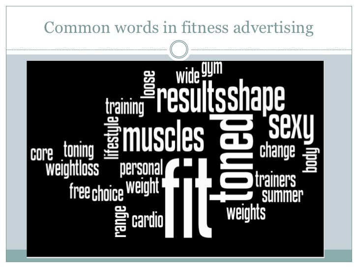 Common words in fitness advertising