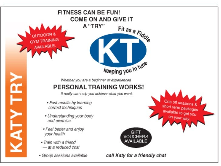 Questions 1. What information is provided about the personal    trainer ?   2. Who is the advertisement targeting?   3....