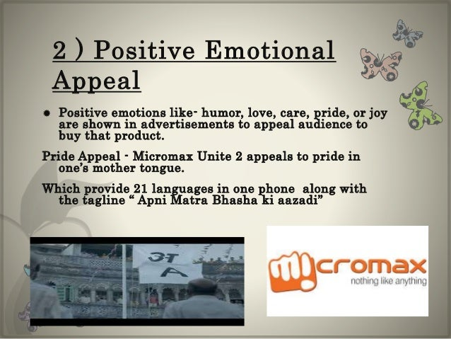 emotional appeals in advertisements Abstract emotional advertisements have a substantial impact on consumer attitudes, as well as upon purchase intentions however, research on the influence of emotional appeals on memory has been somewhat mixed.