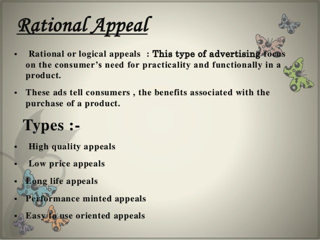 Make use of 'logical appeal' throughout the Sentence in your essay