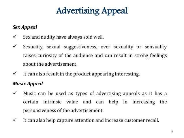 sex appeal in marketing Hamidreza ehsanian mofrad, benjamin chan yin fah-any correlation between sex appeal marketing with indivdual's temperaments and cultural orientations european academic research- volii.