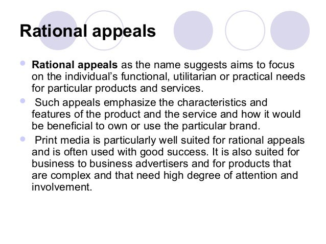 a rational appeal in advertising Appendix 1 presents the 28 services advertising appeals, their rational or emotional classification and their link with a hofstede dimension if available.