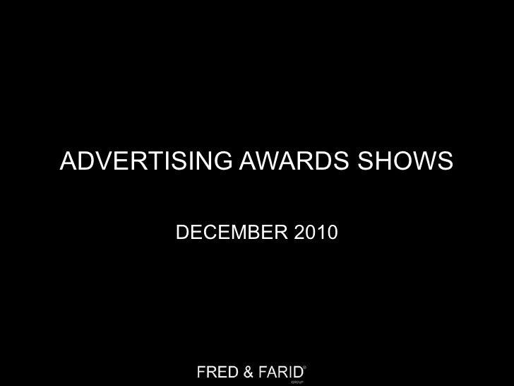 Advertising awards shows - YEAR 2010