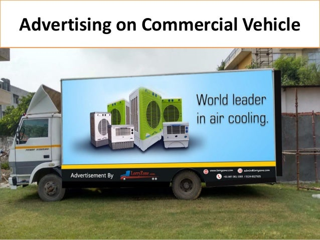 Advertising on Commercial Vehicle