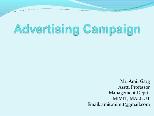 Mr. Amit Garg Asstt. Professor Management Deptt. MIMIT, MALOUT Email: amit.mimit@gmail.com