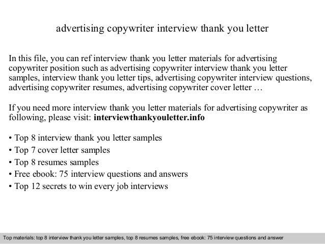 Cover Letter For Copywriter  Copywriter Cover Letter