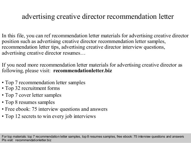 Interview Questions And Answers Free Download Pdf Ppt File Advertising Creative Director Recommendation
