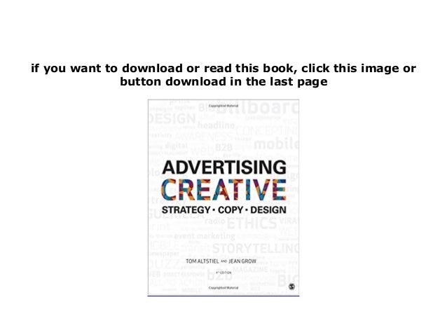 advertising creative strategy copy and design free pdf