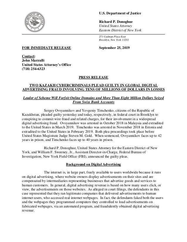 U.S. Department of Justice Richard P. Donoghue United States Attorney Eastern District of New York 271 Cadman Plaza East B...