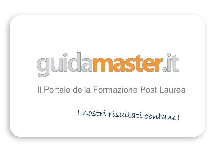 Il Portale della Formazione Post Laurea