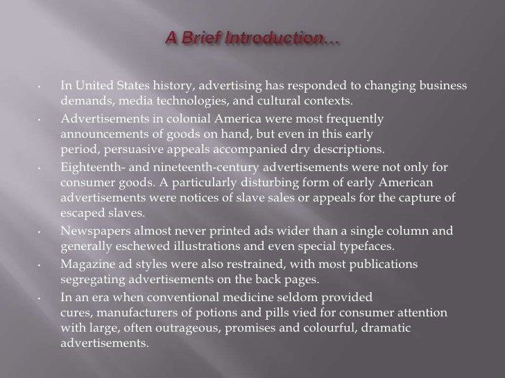 Advertising history of usa
