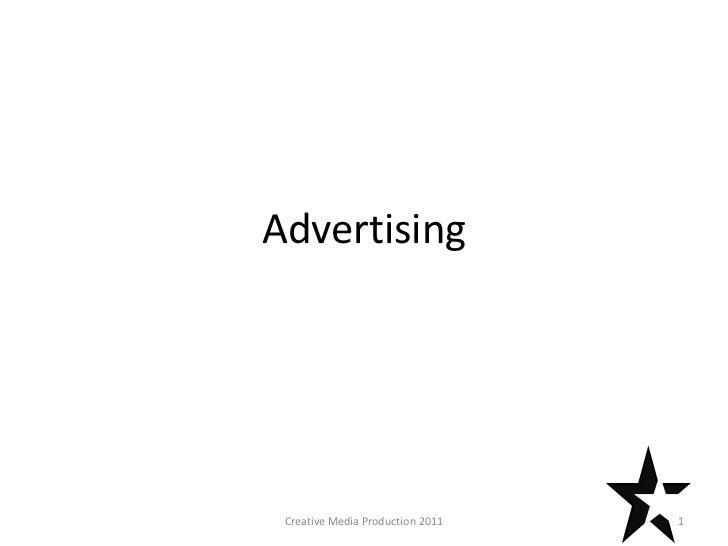 Advertising Creative Media Production 2011   1