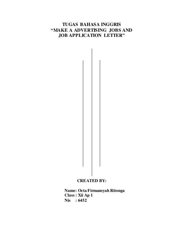 Iklan Lowongan Pekerjaan Dengan Surat Lamaran Pekerjaan Bahasa Inggri
