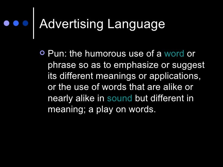 Advertising and Language: The Power of Words