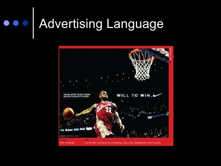 advertising language Contents: introduction – historical background – formal aspects of  advertisements and text type marking – semantic aspects of advertisements –  functional.