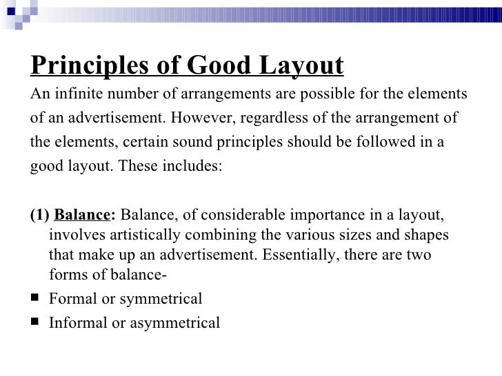 components of advertising layout