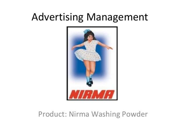 Advertising Management Product: Nirma Washing Powder