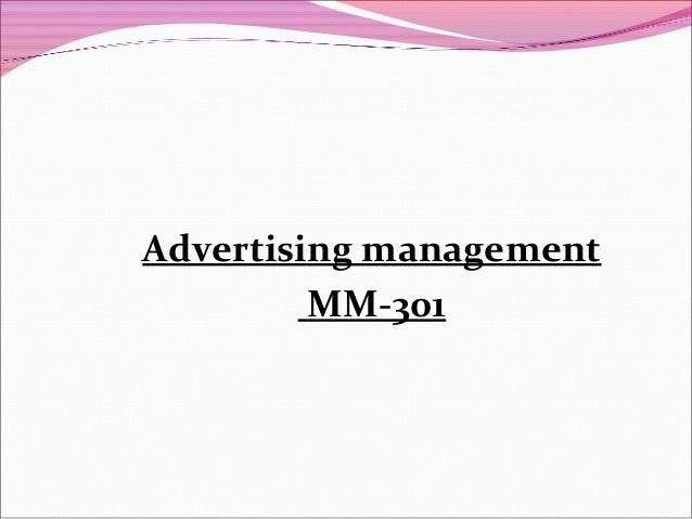 Advertising management MM-301