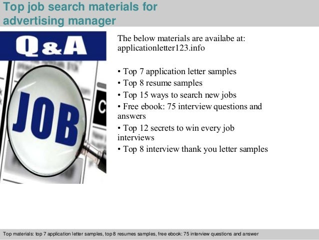 5 top job search materials for advertising manager - Advertising Manager Job Description