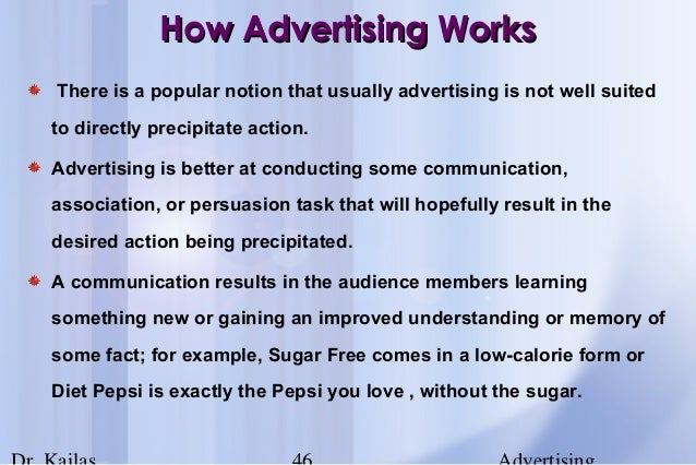 how advertising workshow advertising works 46