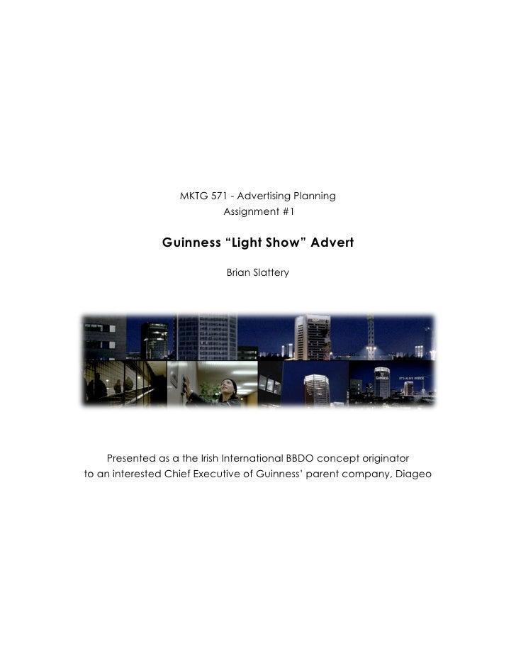 MKTG 571 - Advertising Planning                                    Assignment #1  ...