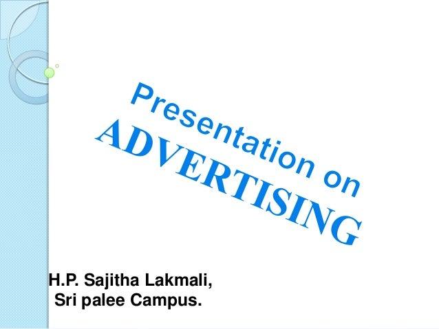 H.P. Sajitha Lakmali,Sri palee Campus.