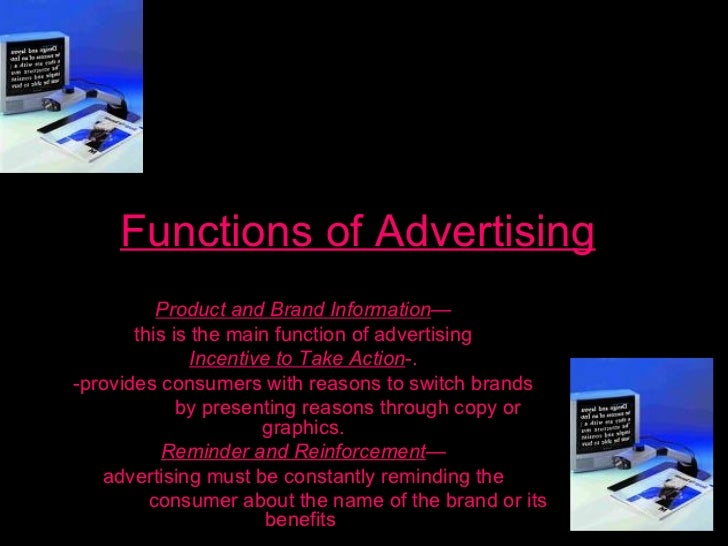 functions of advertising Marketing functions by: sasha ferguson channel management channel management is the process which a company creates organized programs for selling and servicing customers within a specific channel.