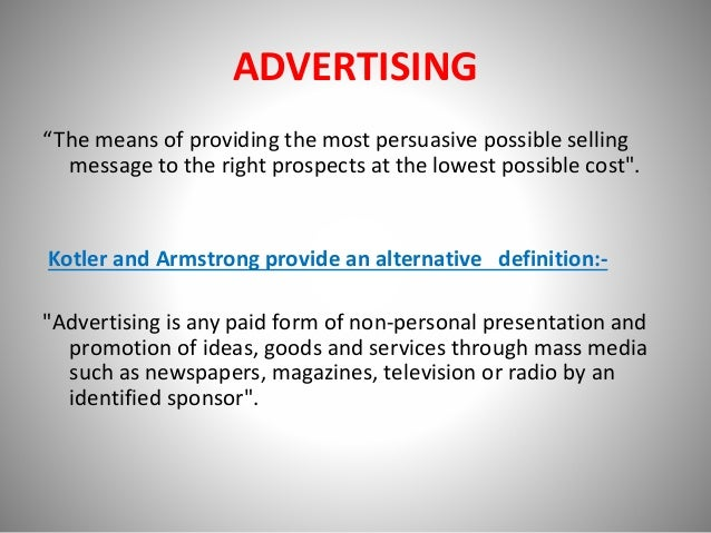 persuasive promotion definition