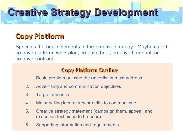 the creative aspects of advertising strategy Excelling in advertising requires honing your creative process, learning how to  runner-up, best overall: zag: the number one strategy of.