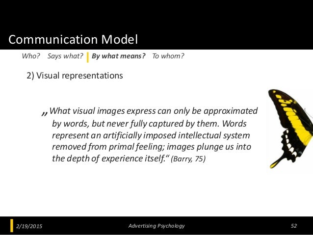 """Communication Model 2) Visual representations """"What visual images express can only be approximated by words, but never ful..."""