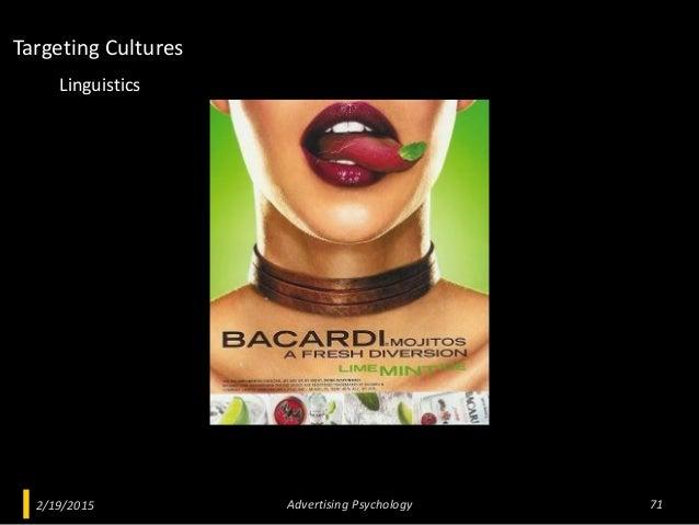 2/19/2015 Advertising Psychology 71 Linguistics Targeting Cultures