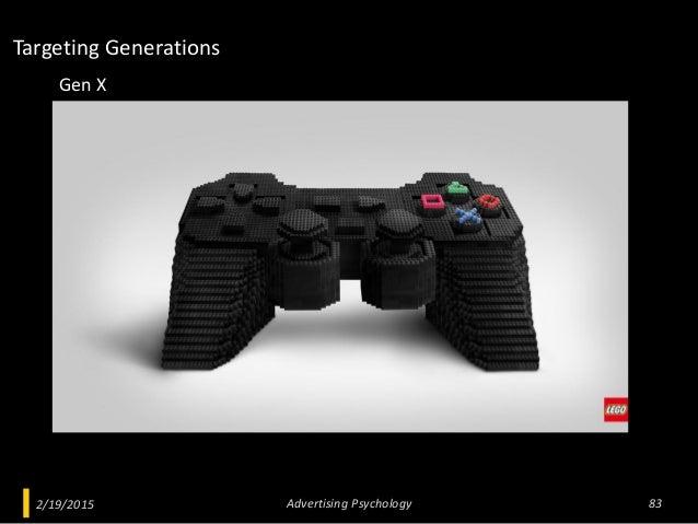 2/19/2015 Advertising Psychology 83 Gen X Targeting Generations