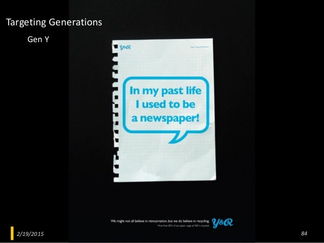 2/19/2015 Advertising Psychology 84 Gen Y Targeting Generations