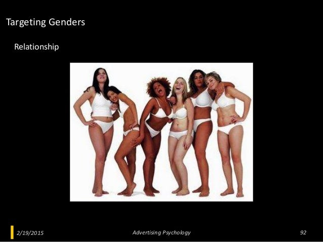 2/19/2015 Advertising Psychology 92 Relationship Targeting Genders