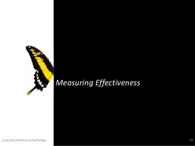 Measuring Effectiveness 2/19/2015Advertising Psychology 93