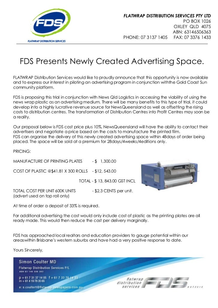 New Revenue Space - Printed Film by FDS