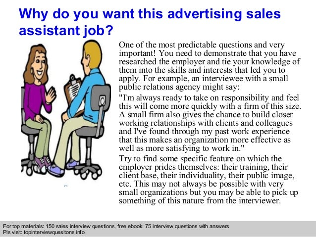 Advertising sales assistant interview questions and answers