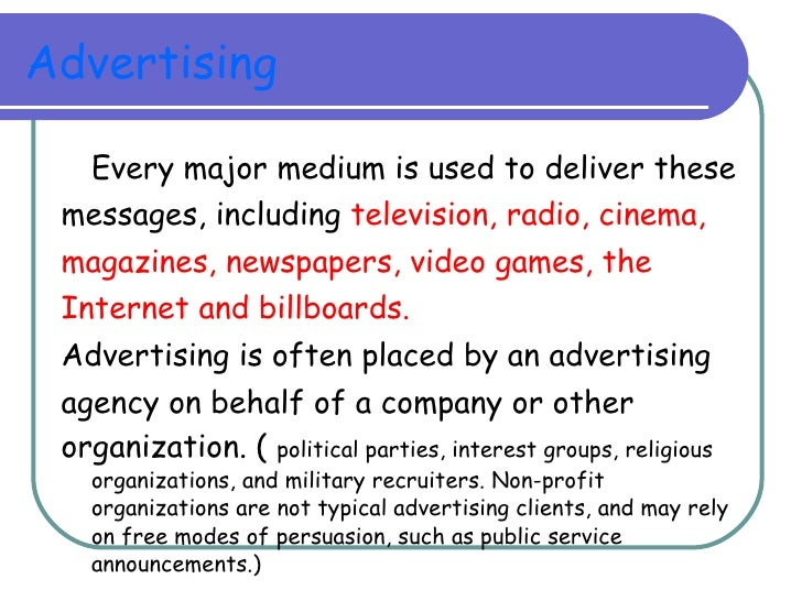 Radio And Television Broadcasting sample persuasive message paper