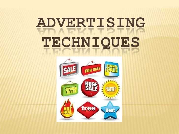 Advertising Techniques<br />
