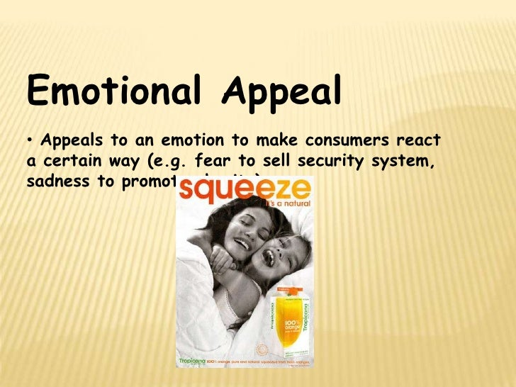 emotional appeals in advertisements Advertising appeals on advertising attitude and consumer purchase decision the rest of the article is organized as follows: first, the extant literature on rational versus emotional advertising appeals, attitude towards advertising and purchase intention is reviewed and consolidated.
