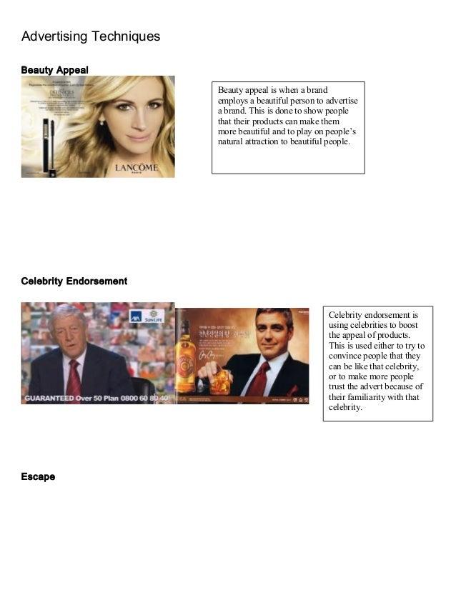 Celebrity appeal propaganda