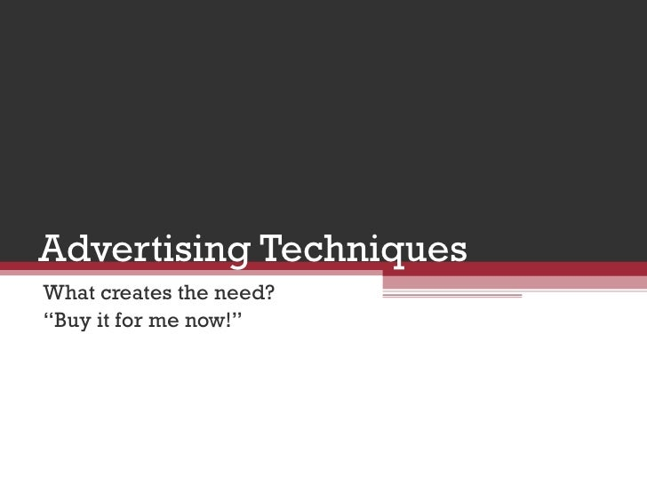 advertising creates artificial needs