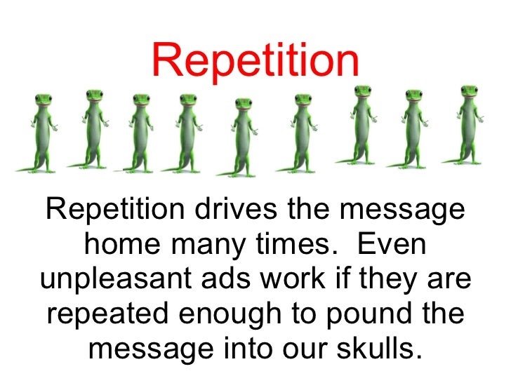 repetition in essays Avoid the excessive repetition of any important or key terms from the essay question in the body of your essay unless the nature of the topic makes it impossible to do so.