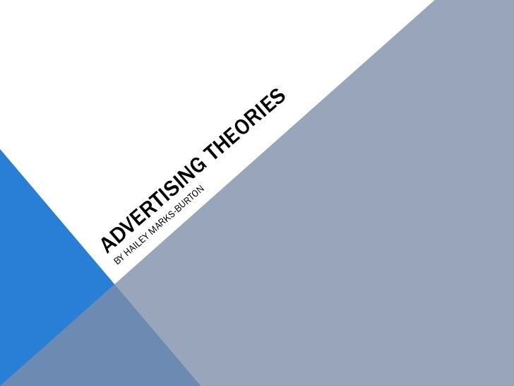 ADVERTISING THEORIES BY HAILEY MARKS-BURTON